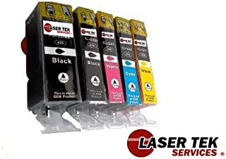 Laser Tek Services Compatible Ink Cartridge Replacement for Canon PGI-225 CLI-226 PGI-225BK CLI-226BK CLI-226C CLI-226M CLI-226Y (Pigment Black, Black, Cyan, Magenta, Yellow, 5-Pack)