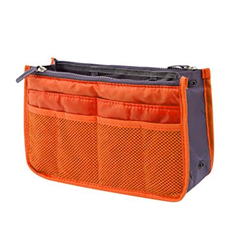 MA87 Organizador de bolso de mano para viajes, bolsa de viaje grande organizador organizador bolsa de cosméticos naranja H