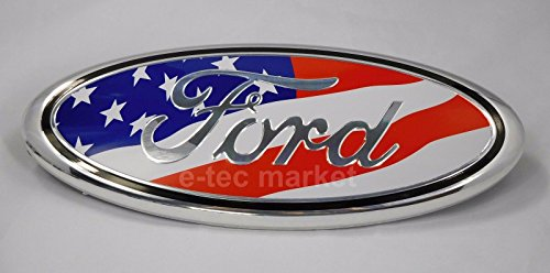 Replacement New F-7FG 7 inch For FORD ESCAPE EXCURSION EXPEDITION FREESTYLE F-150 F-250 F350 Rear OVAL American Flag EMBLEM FRONT GRILLE Tailgate 7 inch Badge