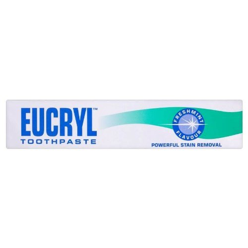 Eucryl smokers toothpaste freshmint 50ml powerful stain removal - Pack of 2