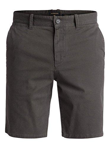 Quiksilver Krandychinst, Herren Chino Shorts, Grau (Raven - Solid), 28