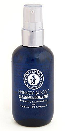 Energiespendendes Massageöl - Rosmarin & Zitronengras, 100ml