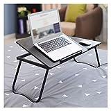 Mesa plegable para ordenador portátil, portátil, portátil, portátil, portátil, cama, sofá, para hospitales, enfermería, lectura, comer, hogar, oficina, mesa portátil (color negro)