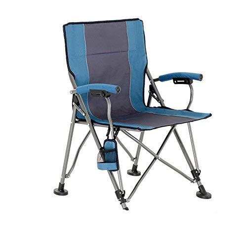 Außen Klappstuhl Selbstfahrer Campingstuhl Armlehne Klapp Computer Stuhl Multifunktionale Portable (Color : Green)