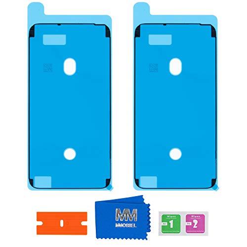 MMOBIEL 2X Pegatina Adhesiva pre-Cortada Impermeable Compatible con iPhone 6 Plus/6S Plus - 5.5 pulg. Marco LCD (Negro)