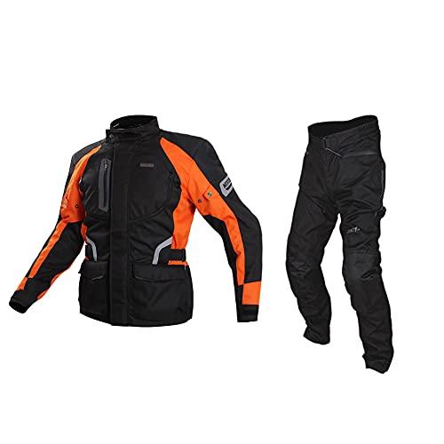 ZDSKSH Motorradkombi Herren 2teilig Textilien Motorradjacke + Motorradhose 600d Neil Polyestergewebe Klimamembrane Und Herausnehmbarem Thermo Futter