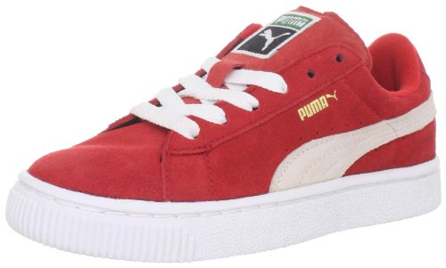 PUMA Suede Classic Sneaker (Toddler/Little Kid/Big Kid) , High Risk Red/White, 5 M US Toddler
