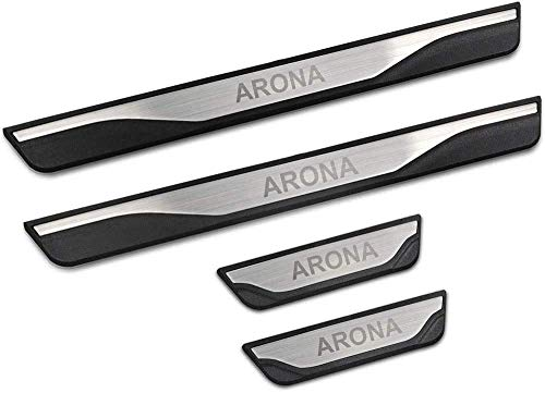 4 piezas de placas de protección para el umbral de la puerta de acero inoxidable, para SEAT Arona SUV 2017-2019Protector, accesorios para la banda de rodadura, pegatinas para decoración de pedales