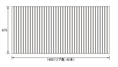 お風呂のふた パナソニック (松下電工 ナショナル) 風呂ふた 巻きふた  RL9RL91024 (RL91024の代替品) 675×1402mm (リブ数 : 42本)