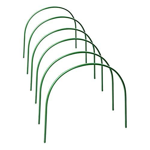 Hearthrousy 6PCS Folientunnel Hochbeet Abdeckung Pflanztunnel Foliengewächshaus Pflanztunnel Bögen Einstellbar Gewächshaus-Hoops Stahl mit Kunststoff Pflanztunnel für Gartengewebe