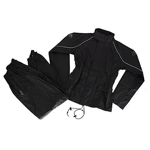 Joe Rocket RS-2 Two-Piece Women's Street Motorcycle Rainsuit - Black/Black/Large