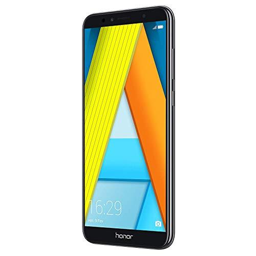 Huawei Honor 7A Smartphone Dual SIM 14.5 cm (5.7  ), (4G, Octa-Core Snapdragon 430, 2 GB di RAM, 16 GB di memoria, fotocamera da 13 MP, Android Oreo), Nero