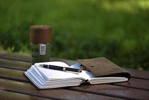 【ドイツSCRIVEINER社製】高級ローラーボールペン(中字付属の予備のリフィル2本)リフィル合計3本付き(Black)1年間の保証付き