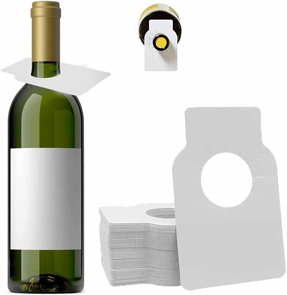 Etiquetas de Botella de Vino,200 Piezas Etiquetas de vino, Etiquetas de bodega,Etiquetas en Blanco para de Vino,Etiqueta de Cuello de Botella para Bodega Vino Champagne Cerveza la Información