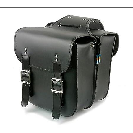【Mr.Pass】【ブラック】高品質な丈夫な作りと大容量収納 バイクサイドバッグ(2個セット)バイクの魅力を引き立てるツールバック 買い物や旅行に!