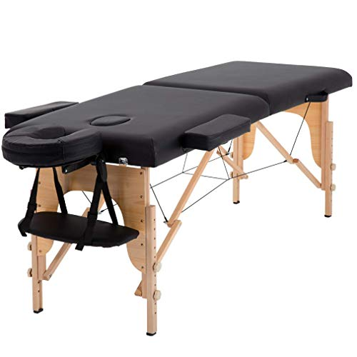 Massage Table Massage Bed Spa Bed 84 Inches Long Portable 2 Folding W/Carry Case...