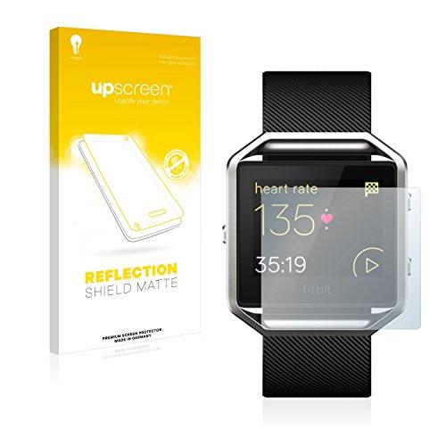 upscreen Entspiegelungs-Schutzfolie kompatibel mit Fitbit Blaze – Anti-Reflex Bildschirmschutz-Folie Matt