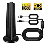 TV Aerial, Indoor 120 Miles Digital HDTV Amplified Antenna Arial Freeview 4K 1080P