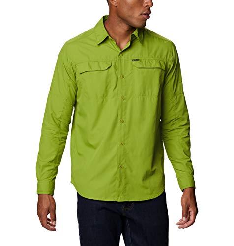 Columbia Men's Silver Ridge 2.0 Long Sleeve Shirt, Moisture Wicking, Sun Protection, Matcha, X-Large