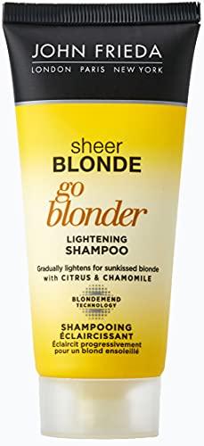 Probe John Frieda Sheer Blonde Go Blonder Mini Shampoo 50ml (Werbe Kreditkarten mit Kauf)
