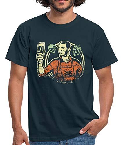 Bier Brauen Brauer Craft Beer Männer T-Shirt, XL, Navy