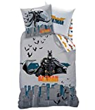 DISNEY-MARVEL - Juego de funda nórdica Super Heros • Ropa de cama infantil • 140 x 200 cm + funda de almohada • Plumón Cover (Batman • Punch)
