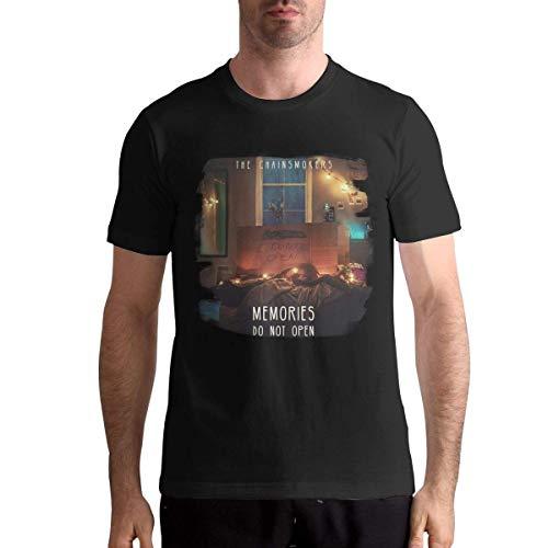 YYdg The Chainsmokers Camisetas para Hombre Mans Blusa Negro