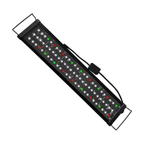 Aquarien Eco Iluminación LED para acuario, 60 cm, iluminación para acuario de 62 a 88 cm, lámpara para agua dulce + mando a distancia...
