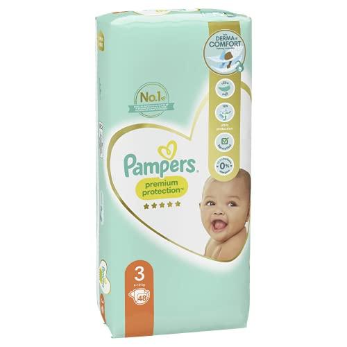 Pampers Premium Protection Windeln, Gr. 3 Midi (6-10 kg), 1er Pack (1 x 50 Stück)