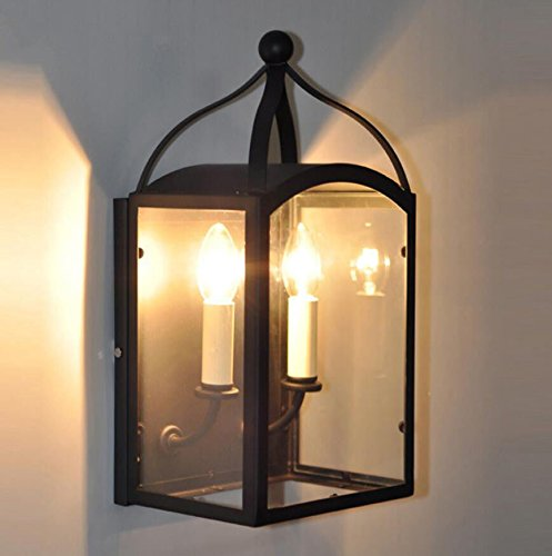 JJZHG wandlamp wandlamp waterdichte wandverlichting decoratieve lichten van creatieve glazen wandlampenkast, balkonglazen kastje bevat: wandlamp, stoere wandlampen, wandlampen design