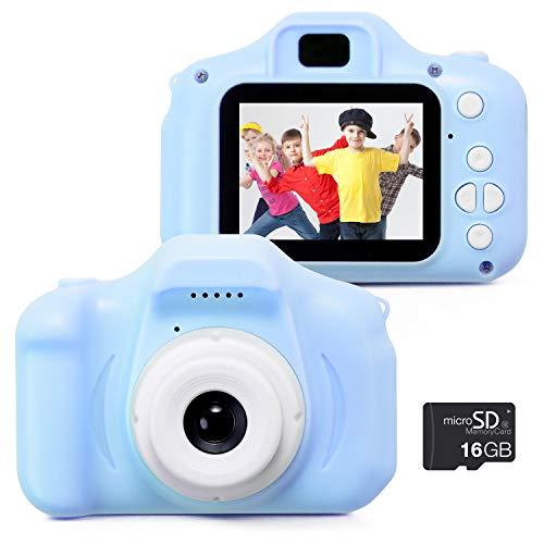 Pstyle. キッズカメラ トイカメラ 子供用 デジタルカメラ デジカメ SDカード付き (ブルー) PST-012