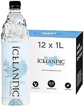 12-Pack Icelandic Glacial Natural Spring Alkaline Water, 33.81 Fl Oz