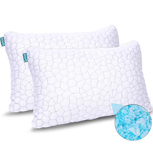 2-Pack Cooling Bed Pillows for Sleeping - Adjustable Gel...
