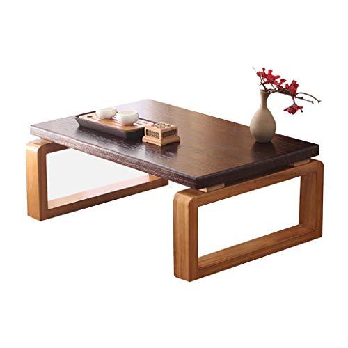 Table Ensembles de et chaises À Thé Balcon Baie Vitrée À Thé Petite dans Le Salon en Bois Tatami Bureau D'ordinateur À La Maison (Color : Brown, Size : 70 * 45 * 30cm)
