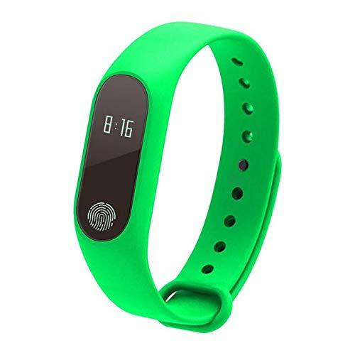 IPOTCH M2Smart Band Reloj Pulsera Pulsera Rastreador de Ejercicios Presión Arterial Frecuencia Cardíaca - Verde