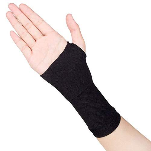 Ortesis de muñeca Soporte ortopédico, 1 par de artritis alargada Guantes de compresión Pulgar Mano Muñeca Soporte Guantes Tendonitis Alivio reumatoide Alivio del dolor (Size : Black M)