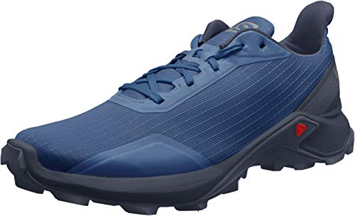 Salomon Herren Trail Running Schuhe, ALPHACROSS, Farbe: blau (Sargasso Sea/navy Blazer/India Ink) Größe: EU 43 1/3