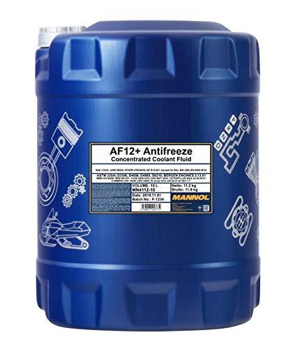 MANNOL 10 Liter, AF12+ KÜHLERFROSTSCHUTZ Konzentrat ROT G12 + AUSLAUFSCHLAUCH