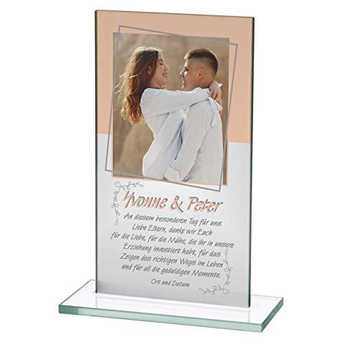 Doman Expositor de cristal grande, para los mejores padres del mundo, regalo para padres como agradecimiento, regalo de boda, madre del novio, regalo de suegra, 25-09