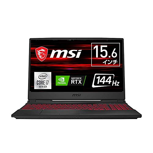 【第10世代CPU・RTX2070搭載】MSIゲーミングノートPC GL65 Win10 i7 RTX2070 15.6FHD 144Hz 16GB SSD512GB ...
