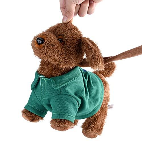 Plüschtiere Musical Lustige Elektronische Gesang Walking Elektro Spielzeug Hund Haustier Kinder Kind Geschenk Grün hund spielzeug kinder Interaktiv Weihnachtsgeschenk