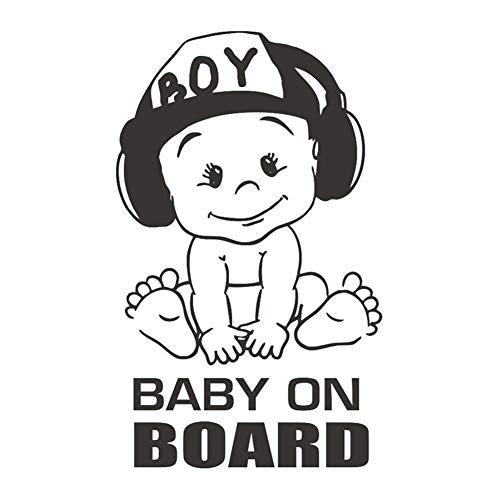 TARTIERY Aufkleber Baby On Board Aufkleber Aufkleber Auto Autoaufkleber Uto Aufkleber Sicherheit Vorsicht Zeichen Für Neue Eltern Und Baby Autoaufkleber UV- Wetterfest Wasserfest Kater