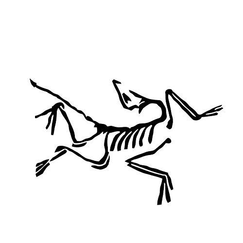 JXAA 17.5 * 11.5CM coolste Skeleton dinosaurus vogel dier auto Sticker Vinyl motorfiets Bumper venster decoratie
