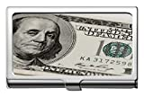 Titular de la tarjeta de nombre comercial, funda de identificación de tarjeta de crédito Dollar Ben Franklin Capital/titular/estuche de tarjetas