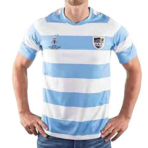 DIWEI Camiseta De Rugby De Argentina 2019 / Camiseta De Rugby De Manga Corta De La Copa Mundial De Japón, Polo De Entrenamiento De Fútbol XL