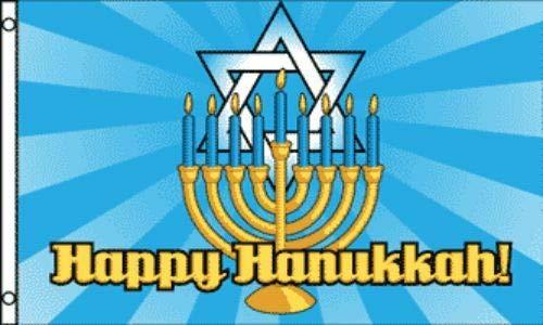 TM Advertising Flag Happy Hanukkah Flag 3x5 ft Holiday