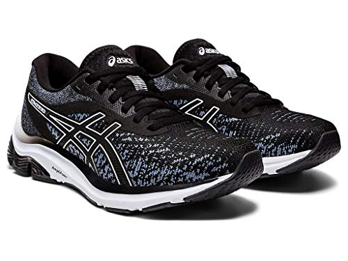 ASICS Women's Gel-Pulse 12 MK Running Shoes, 9M, Black/Black