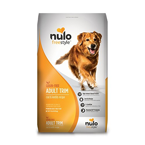 Nulo Adult Trim Grain Free Healthy Weight Dry Dog Food With Bc30 Probiotic (Cod And Lentils Recipe, 11Lb Bag)
