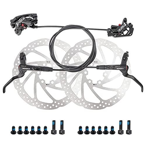Roeam Pinza Freno Anteriore Posteriore Disco Idraulico MTB con 4 Pistoni Idraulici e Sistema Frenante a Due Vie 22,2 mm Kit Leva Freno per Mountain Bike Destra Sinistra