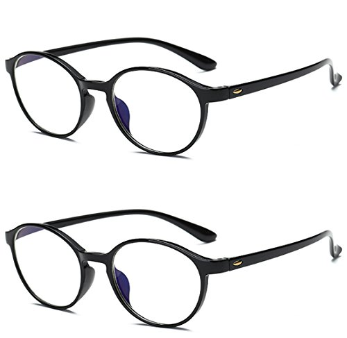 VEVESMUNDO® leesbril Anti blauw licht dames heren computer leesbril ooglook flexibele leeshulp kijkhulp werkbril anti blue rays leesbril zwart luipaard